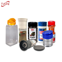 Hot Selling Empty Nordic Spice Jar Labels Bottle With Shakers