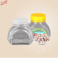 300ml Wholesale High Quality Cookie Tamper Proof Cap small empty packaging storage food grade sweet candy plastic jars