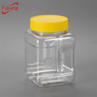 500gram/500ml Square PET Spice Bottle and Container for Salt