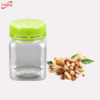 PET Honey Jars with Caps, Clear Plastic Cylindrical Food Bottles with Lids Dongguan Suppliers