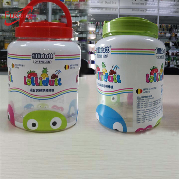 3 litres clear plastic bottle and cookies jars food grade