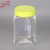 680ml Pet Plastic Square Spice Jars Bottles