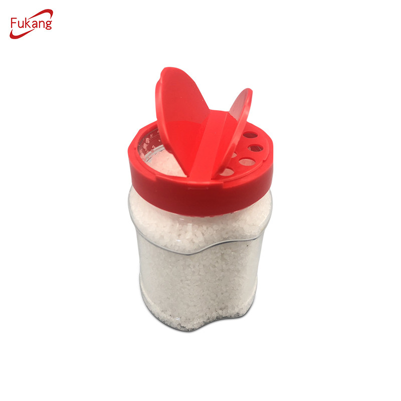 High quality plastic spice shaker bottle square plastic spice jars