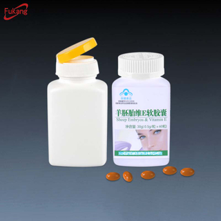 150cc square hdpe Flip top Cap medicine empty supplement pharmaceutical empty Clear Capsule Tablet Bottles