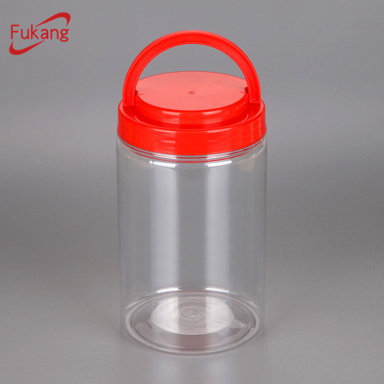 Supplier Transparent plastic food jars with printing 1000ml