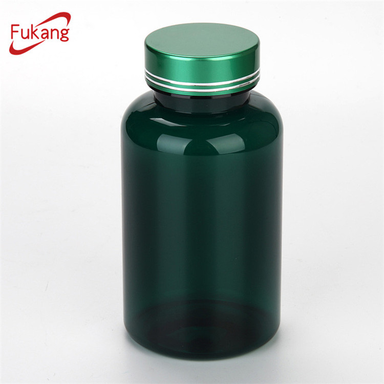 250ml green pet jar, dietary supplements food plastic jar