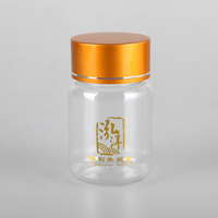 60ml amber PET vitamin pill drug bottles with aluminum cap