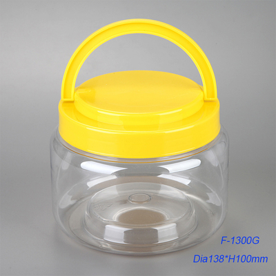 Large capacity wide mouth cylindrical shape 1300ml PET bottle