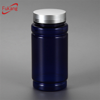 Made in China 200CC empty plastic capsule/pill bottle with metal cap