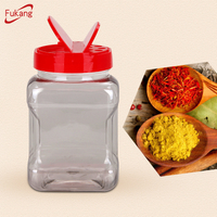 Clear Empty Spice Bottles 500Ml Plastic Pet Salt Shaker Spice Jar